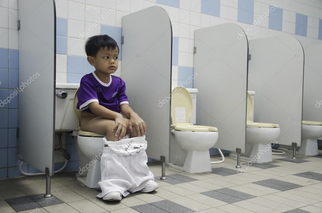 Terrific Boys Toilet Seat Stock Photo C Intararit 26911779 Bralicious Painted Fabric Chair Ideas Braliciousco