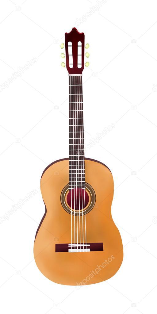 Rucni Kresba Klasicka Kytara Na Bilem Pozadi Stock Fotografie