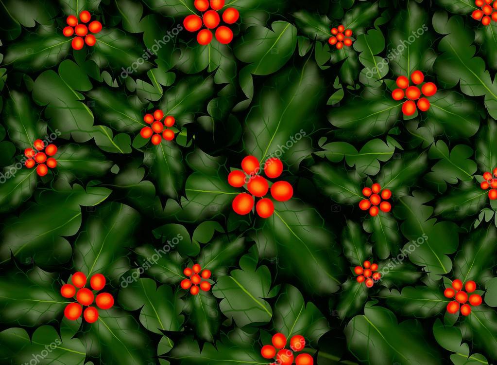 ein Holly Hintergrundmuster für Weihnachten — Stockfoto © Iamnee ...