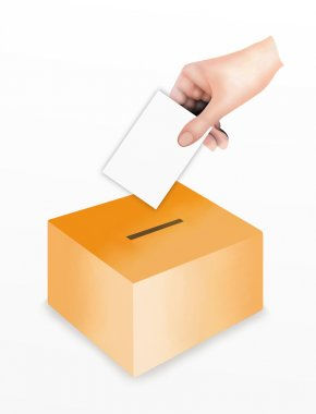 Hand Putting A Voting at the Ballot Box