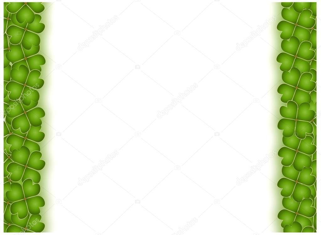 marco de trébol de cuatro hojas vertical con espacio de copia ...