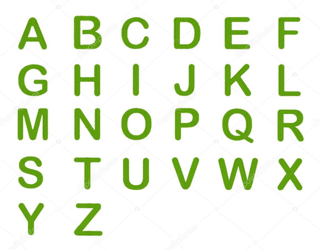Four Leaf Clover of Alphabet Letter A-Z