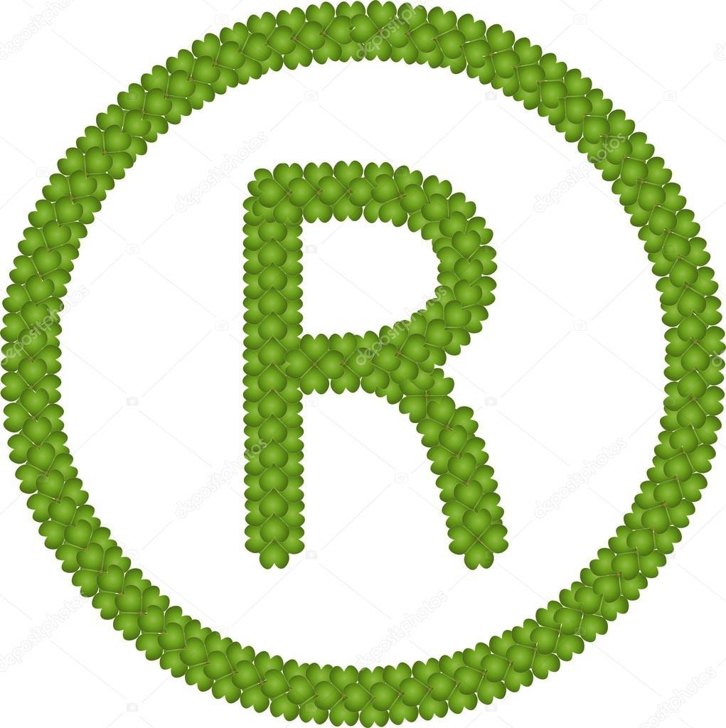 A Four Leaf Clover of Registered Symbol