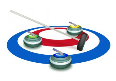 A Collection of Curling Stones on Ice Sheet