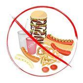 Fotografie Na jíst sycené nápoje a rychlé občerstvení