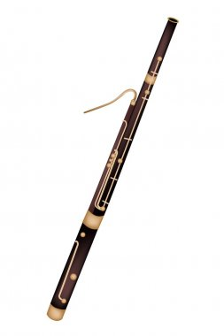 A Classical Bassoon Isolated on White Background