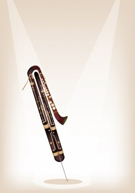 A Classical Contrabassoon on Brown Stage Background