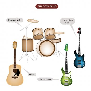 A Set of Shadow Band Music Equipment