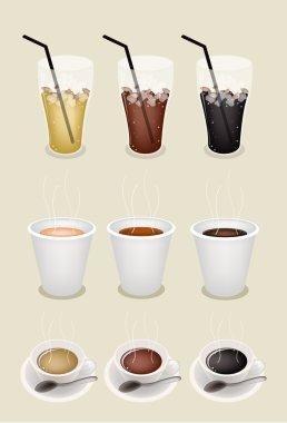 Iced Coffee, Hot Coffee and Takeaway Coffee
