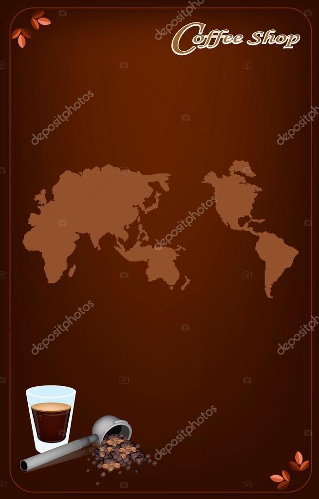 una plantilla de menú de café para café y café — Archivo Imágenes ...