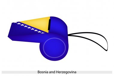 Blue and Yellow on Bosnia and Herzegovina Whistle