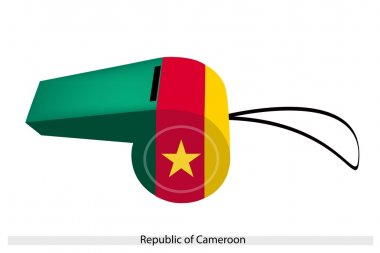 Green, Red and Yellow Stripes on Cameroon Whistle