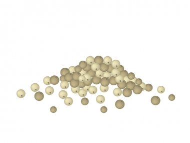 A Heap of Dry Peppercorns on White Background