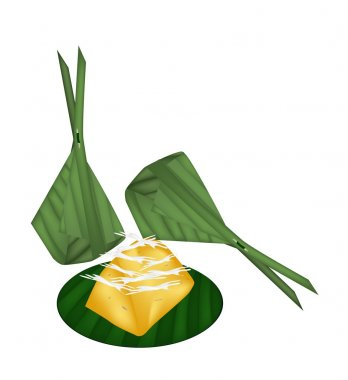 Toddy Palm Cake Wrap with Banana Leaves