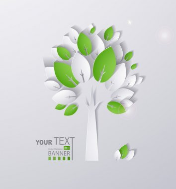 Paper green tree
