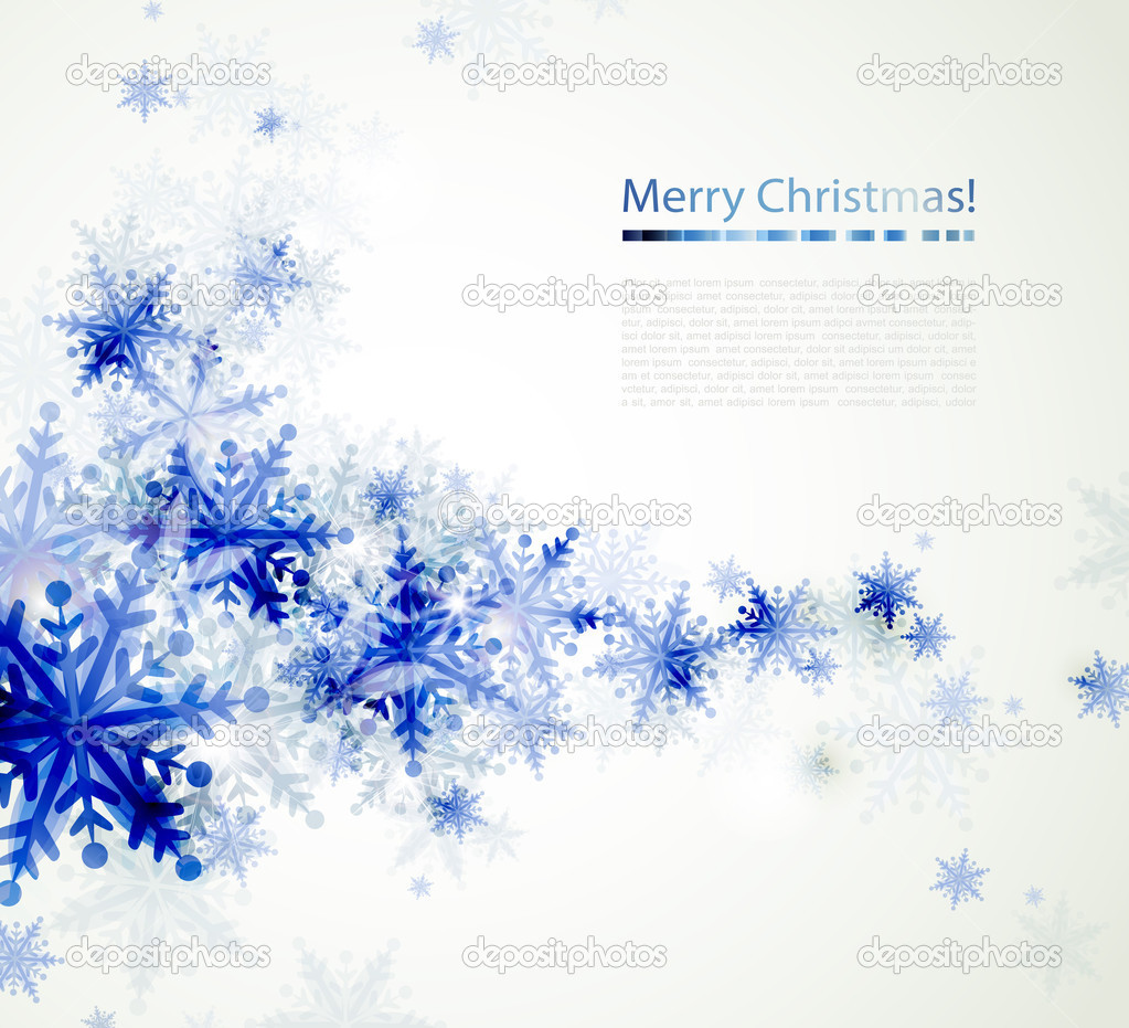 Weihnachten Hintergrund mit abstrakt blau Schneeflocken ...