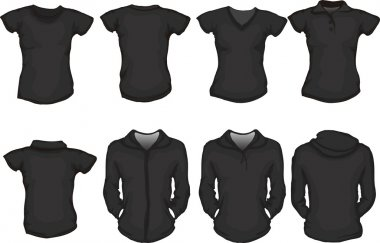 Black female shirts template