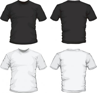 Black and white male shirts template