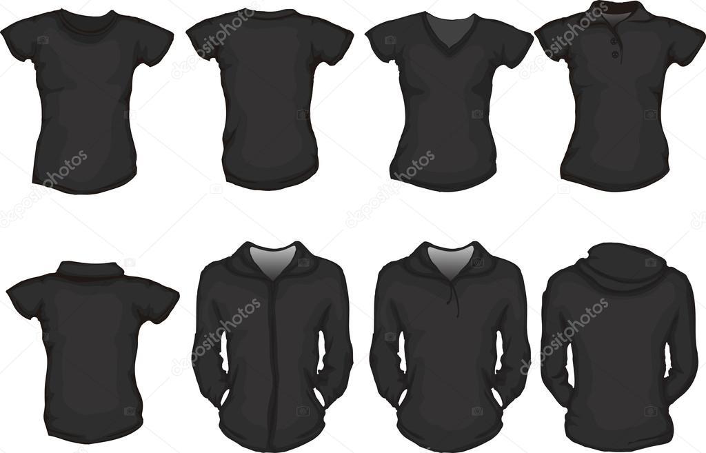 Μαύρη γυναικεία πουκάμισα πρότυπο — Διανυσματικό Αρχείο © airdone ... 08fb9405d21