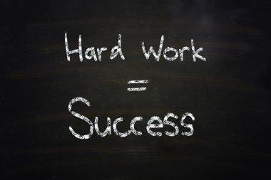 hard work equal success