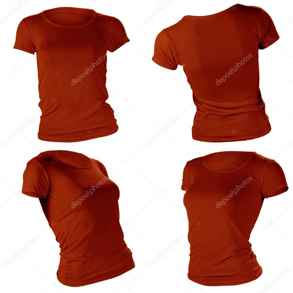 leere braun Damen T-shirt-Vorlage — Stockfoto #37668837