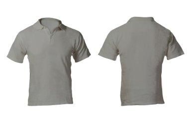 Men's Blank Grey Polo Shirt Template