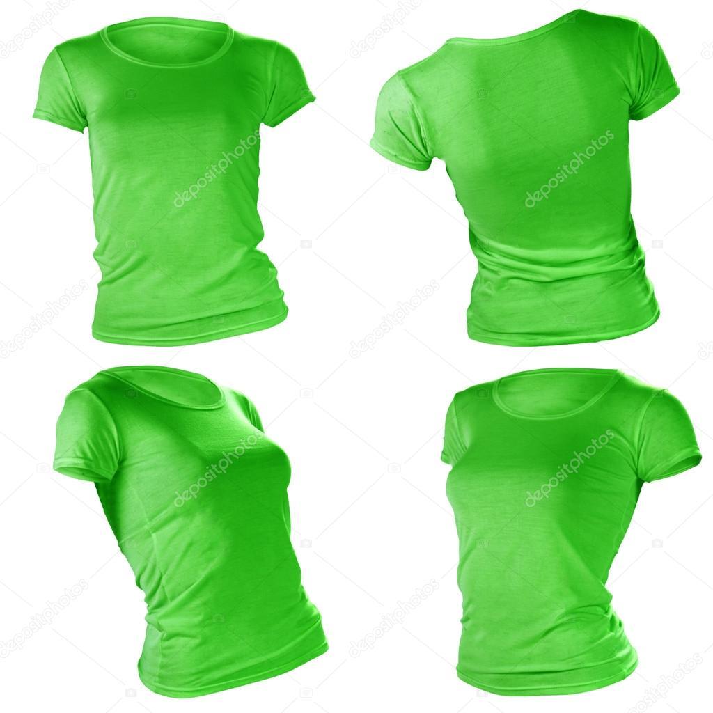 Women\'s leere grüne T-shirt-Vorlage — Stockfoto © airdone #37674431