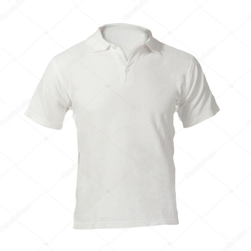 Men\'s leere weiße Polo-Shirt Vorlage — Stockfoto © airdone #37674513