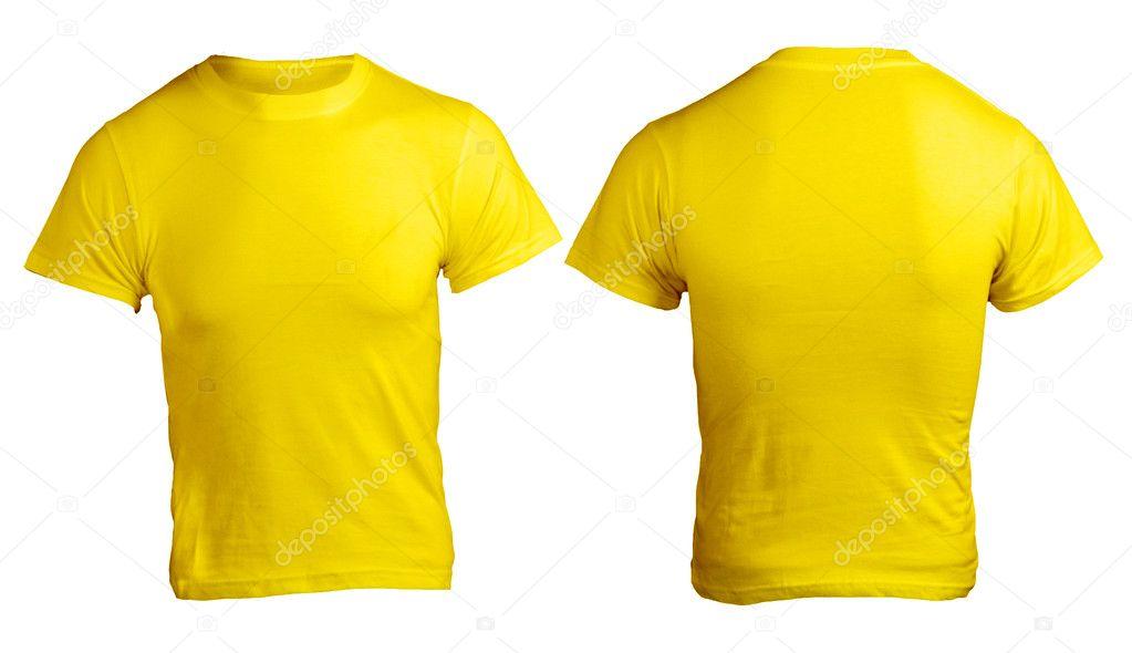 plantilla en blanco camisa amarilla de los hombres — Foto de stock ...
