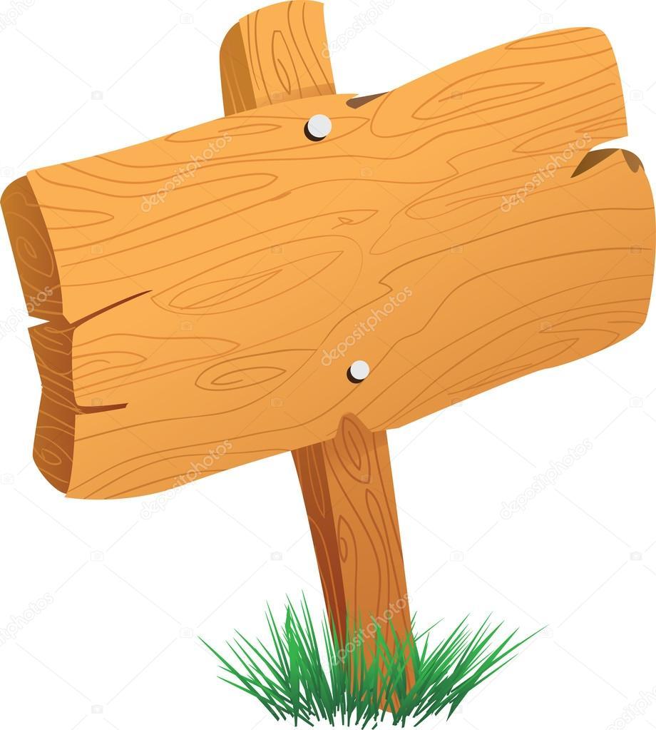 Cartoon wood sign board ankaperla