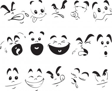Children Face Expression Doodle