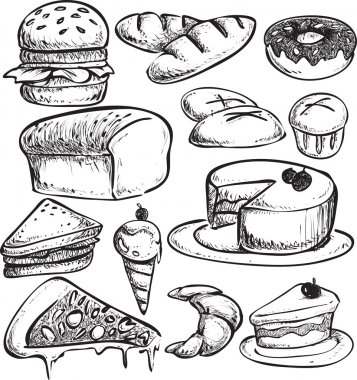 Pastry Bread Doodle