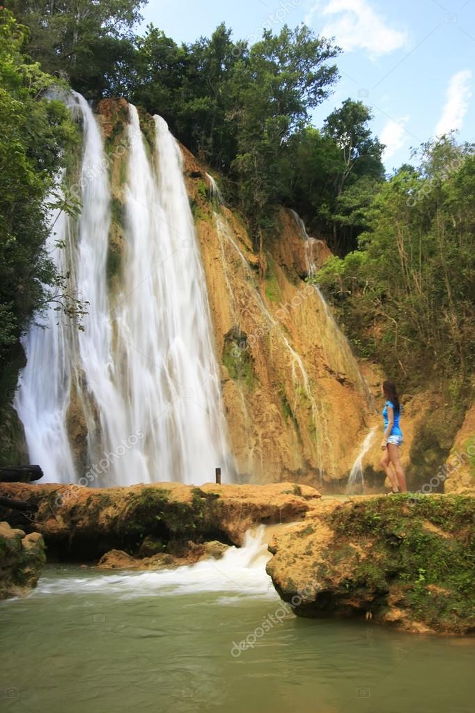 El Salto de Limon waterfall, Dominican Republic