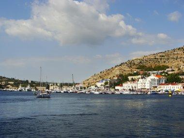 Balaklava town and Balaklava Bay, Crimea