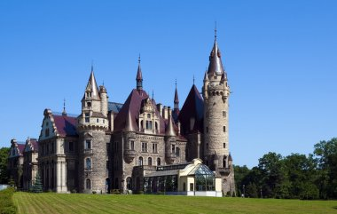 Moszna castle in Silesia