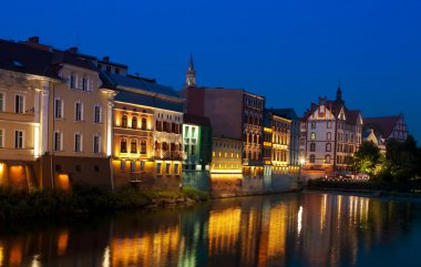 Opole city at night, Silezia, Poland