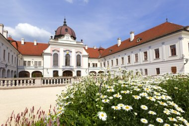 The baroque building of the Grassalkovich Castle in Godollo, north of Hungary