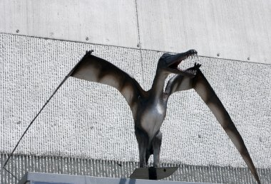 Pterodactyl sculpture at the Krasiejow dinopark