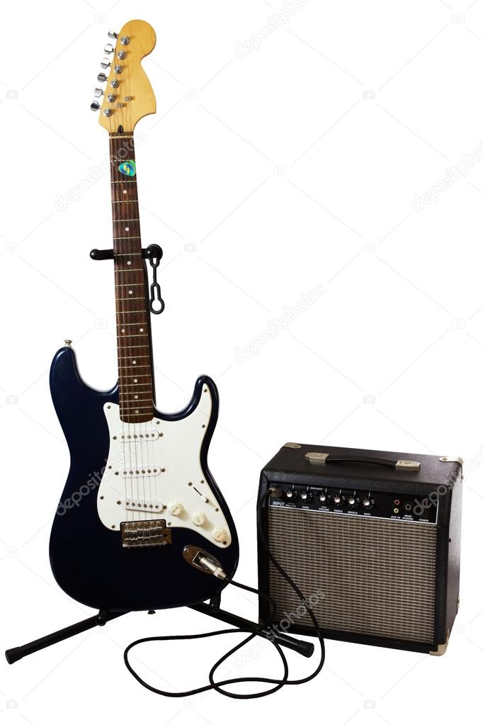electric guitar and amp stock photo photoexpert 12346261. Black Bedroom Furniture Sets. Home Design Ideas