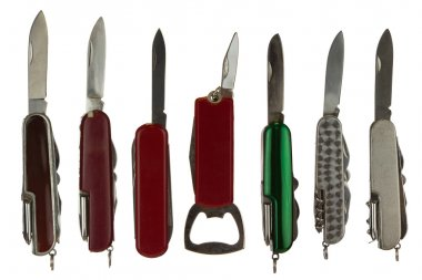 All Purpose Knives Isolated on White