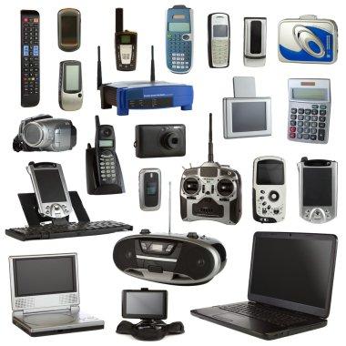 Electronics Isolated on a White Background