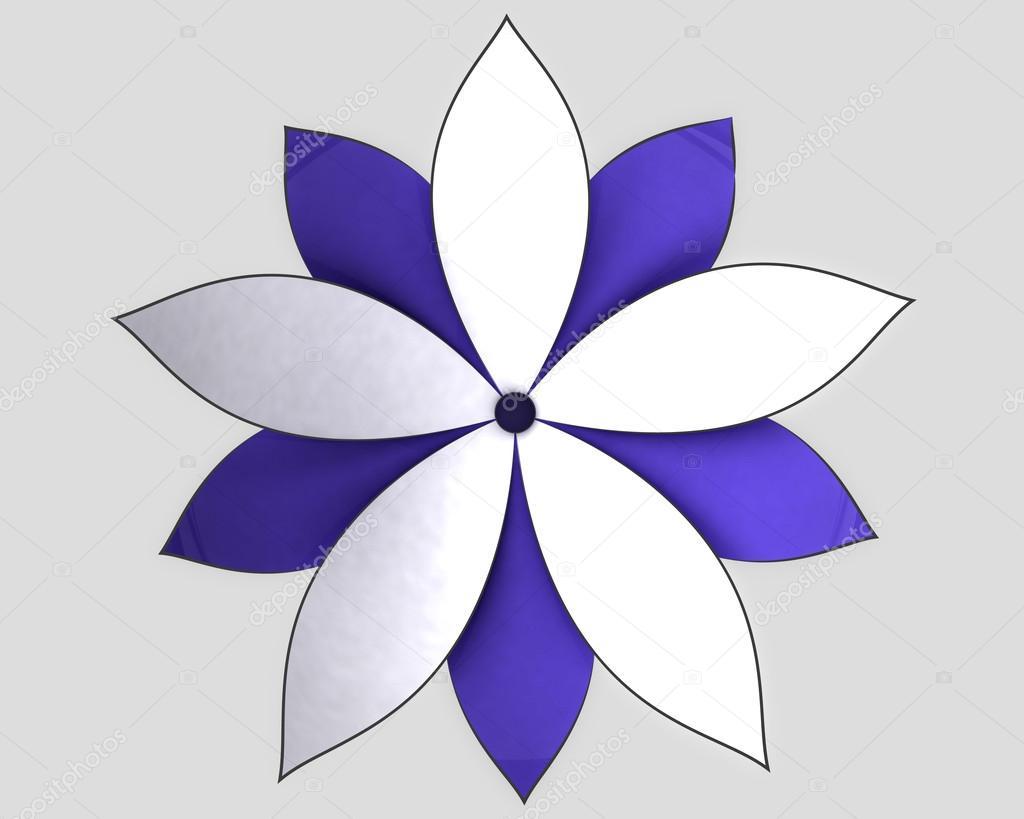 Vue De Dessus De Fleur Lotus Bleu Blanc Radial Photographie Adikk