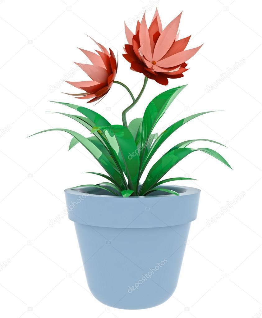 Isole Pourpre Rouge Plante D Interieur En Pot De Fleurs