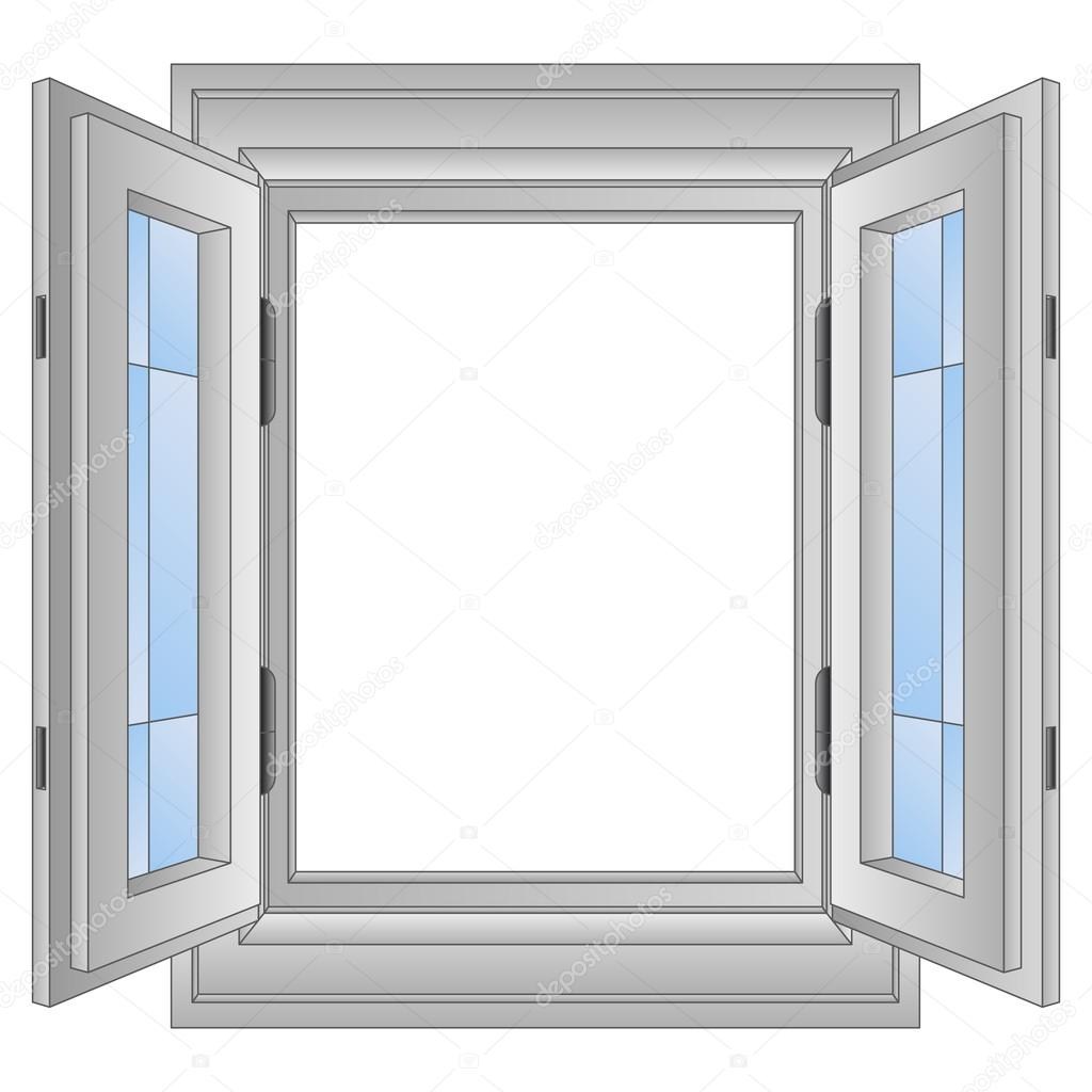 isolated open golden window frame vector — Stock Vector © Adikk ...