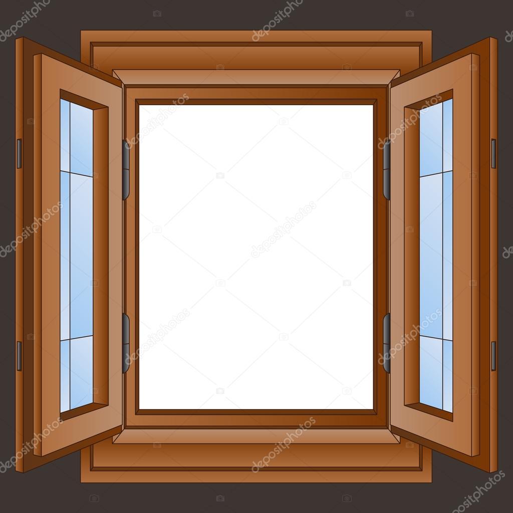 holz fensterrahmen in der wand vektor stockvektor adikk 29225757. Black Bedroom Furniture Sets. Home Design Ideas