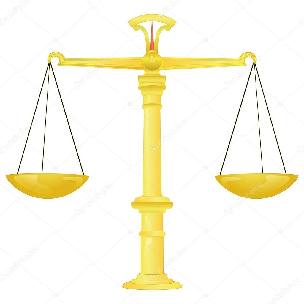 Gouden gewicht evenwicht vector tekening stockvector adikk 30289911 - Dessin de balance ...
