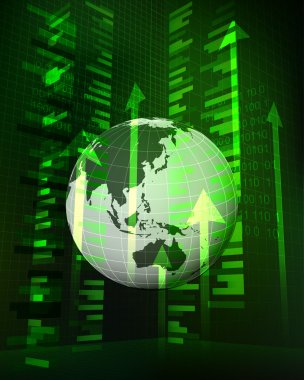 positive growth data in Asian countries vector
