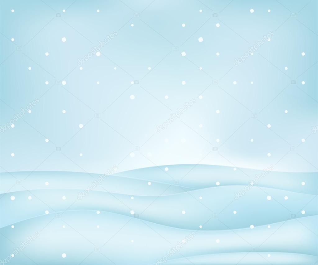 Calm free winter landscape plain scene at snowfall vector illustration — Vector by Adikk