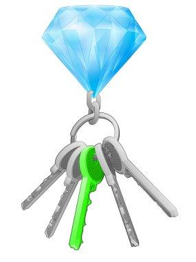 Diamond on key ring