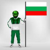 Fotografie standing racer holding Bulgarian flag vector